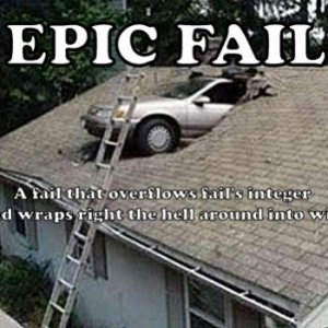 car crashes into house roofFAIL 1